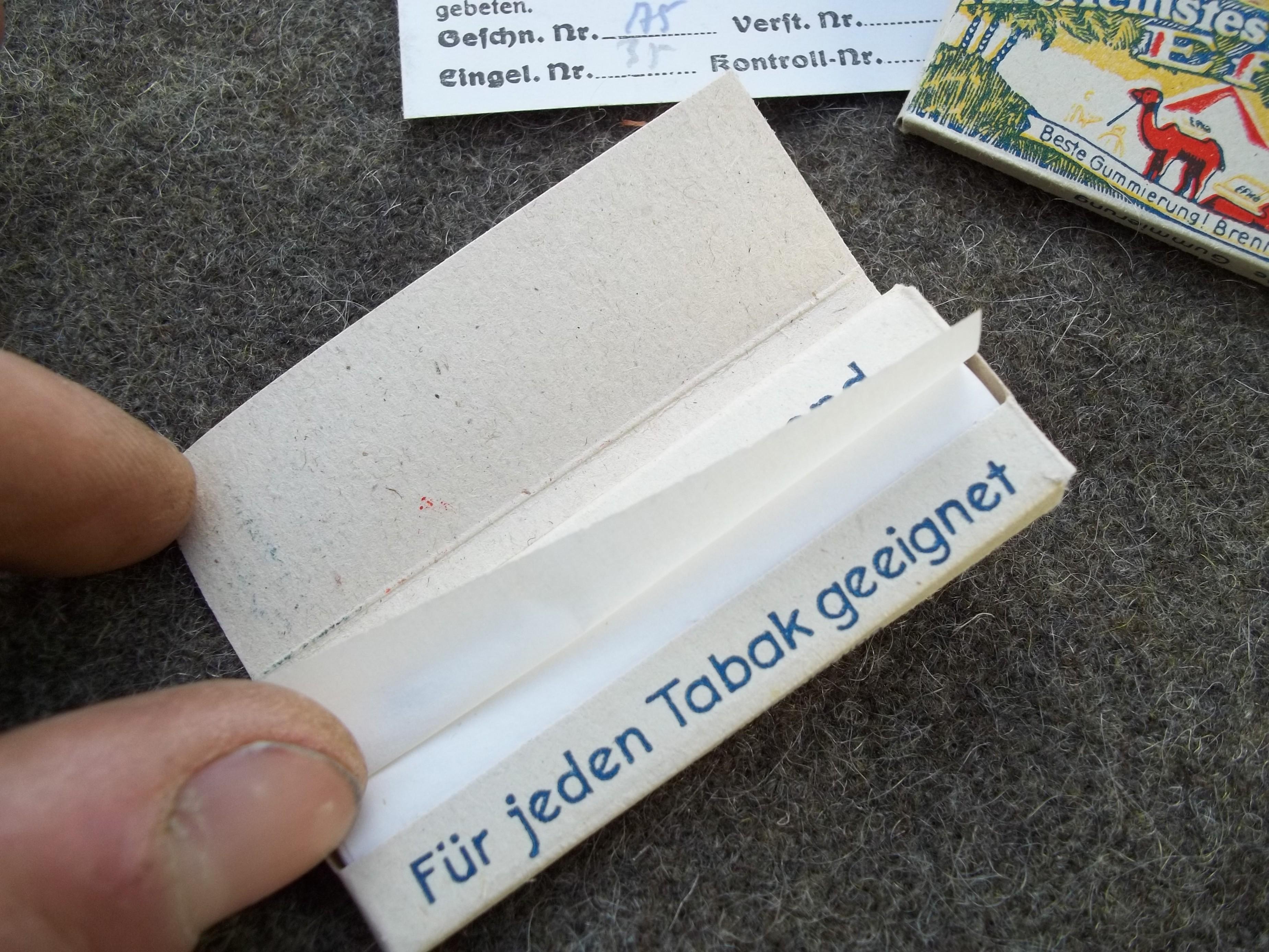 Cartine X Tabacco.Cartine Per Sigarette Tedesche Iig M Crapanzano Militaria